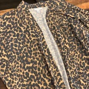 Cheetah print duster size m